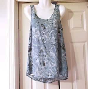 NWOT MOSSIMO TANK TOP GREEN FLOWER PRINT SIZE XS